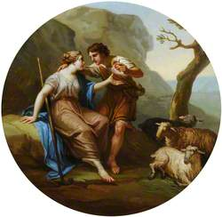Daphnis Giving an Apple to Chloe