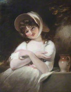 Portrait of an Unknown Girl in a White Dress