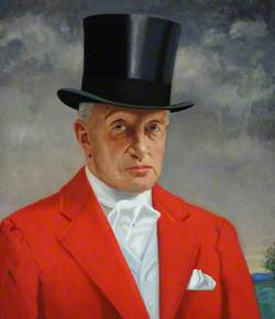 Francis 'Frank' William Green (1861–1954), FSA, in Hunting Pink and a Topper