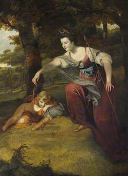 Diana Disarming Cupid: Elizabeth Dashwood (1741–1832), Duchess of Manchester, and Her Son George Montagu (1763–1772), Viscount Manderville