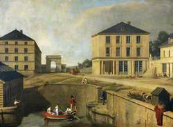 The Cotton Mill, House, and Wharf of Richard-Lenoir at Chantilly