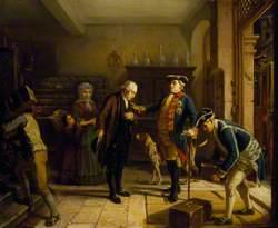 The Elector of Hesse Entrusting Mayer Amschel Rothschild (1743–1812), with His Treasure