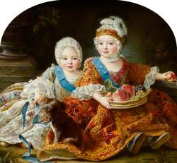 Louis Auguste, duc de Berry (later Louis XVI, 1754–1793, King of France), and Louis-Stanislas-Xavier, comte de Provence (later Louis XVIII, 1755–1824, King of France), as Children
