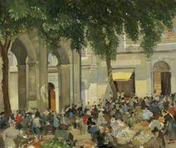 French Town Square with Market
