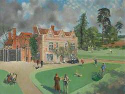 The Gardens of Greys Court, with Members of the Brunner Family
