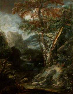 Wild Landscape, with Christ in the Wilderness