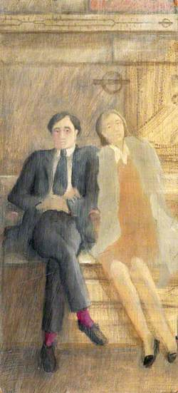 Portrait of the Artist and His Wife on the Underground