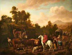 Mountainous Landscape with a Caravan