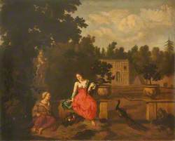 Vertumnus and Pomona in a Garden, with Juno's Peacock