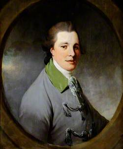 Portrait of an Unknown Young Gentleman in a Grey Coat with a Green Collar