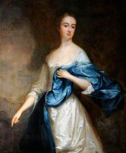 Portrait of an Unknown Lady in White with a Blue Mantle
