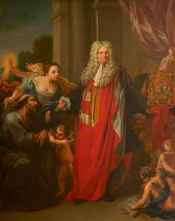 Allegorical Portrait of Thomas Parker (1666–1732), 1st Earl of Macclesfield
