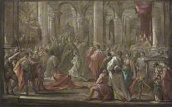 Sketch for the Coronation of the Empress Eleanora Magdalena Theresa of Pfalz-Neuburg in 1690