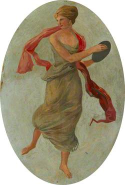 Ceiling Roundel: A Dancing Girl in Green (A Muse?)