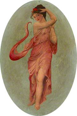 Ceiling Roundel: A Dancing Girl in Pink (A Muse?)
