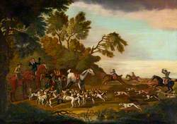 Huntsmen and Hounds Searching for a Scent