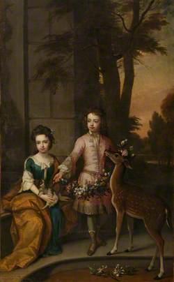 Lionel Sackville (1688–1765), 1st Duke of Dorset, and His Sister Lady Mary Sackville (1687–1705), Later Duchess of Beaufort, as Children
