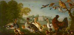 A Fowl Piece with Alexander Pope's Lodge at Twickenham in the Distance