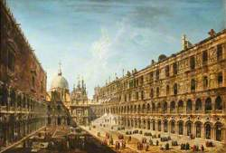 View of the Courtyard of the Doge's Palace, Venice