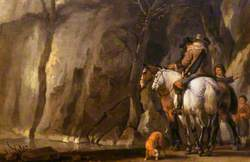 Horsemen in a Ravine