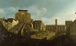 The Piazza del Campidoglio with Santa Maria d'Aracoeli, Rome