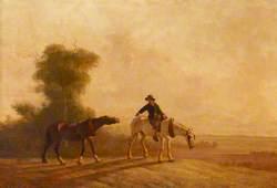 Landscape, Boy with Farm Horses