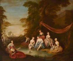 Park Scene, Ladies Bathing