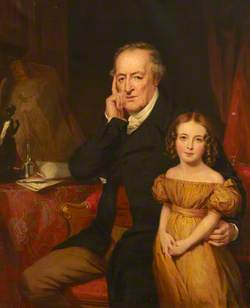 George O'Brien Wyndham (1751–1837), 3rd Earl of Egremont and His Granddaughter Harriet King (?)