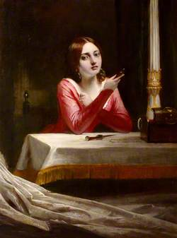 A Lady Contemplating Suicide
