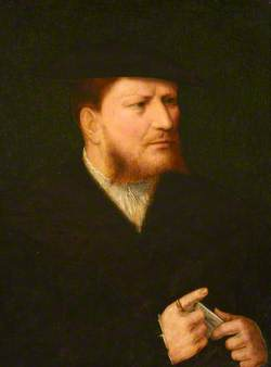 Portrait of an Unknown Man in Black with a Letter