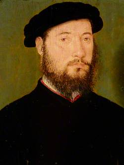 Portrait of an Unknown Man with a Red Collar