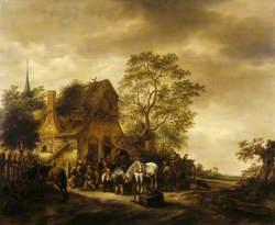 A Gathering before a Village Inn
