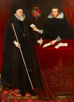 Thomas Sackville (1536–1608), 1st Earl of Dorset, Being Presented with Petitions by His Secretary