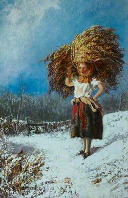 A Girl Carrying a Sheaf of Wheat