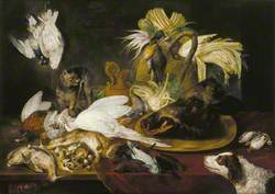 Still Life of Dead Game with a Dog