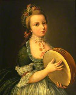 A Girl with a Tambourine