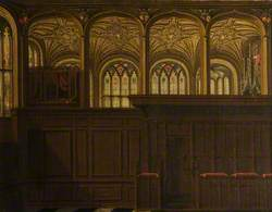 An Illusionistic Gothic Patron's Pew, in the Extension of the Chapel