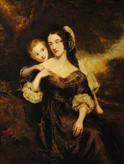 Martha Buckworth, Mrs William Lyde Wiggett Chute, with Her Son, Chaloner William Chute (1838–1892)