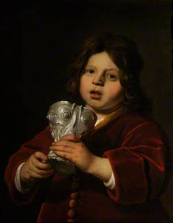 A Boy with a Silver Cup by Christian van Vianen of 1640
