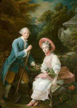 The Prince (1736–1818), and Princess (1737–1760), Condé, Dressed as Gardeners