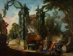 Garden with Eastern Figures