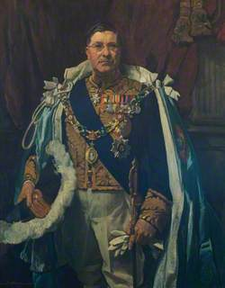 John Francis Ashley (Jock), Lord Erskine, Governor of Madras, in the Robes of Governor