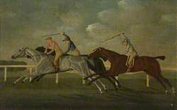 'Gimcrack' Beating Two Other Horses at Epsom
