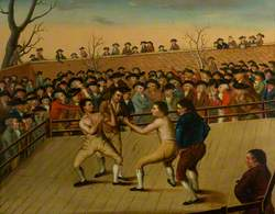 The Fight between Jackson and Mendoza at Hornchurch, 1795