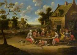 A Peasant Feast outside of an Inn