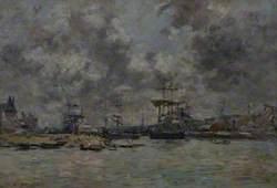 Vue du port de Trouville