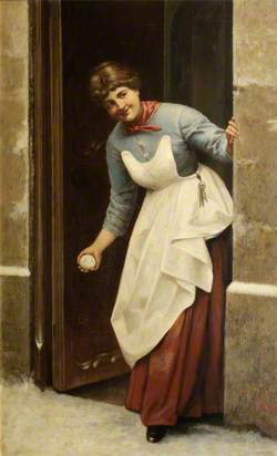 Woman with a Snowball