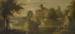 Landscape with Castle, River and Figures