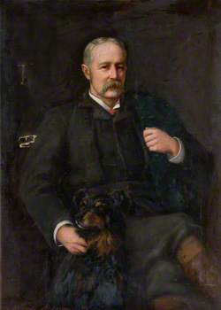 Portrait of a Gentleman with a Dog