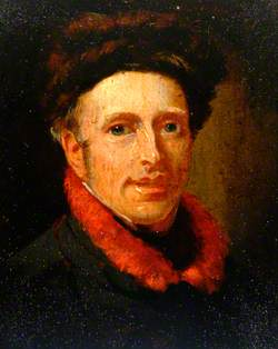Portrait of a Man with a Red Scarf